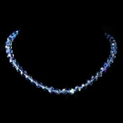 Blue AB Swarovski Crystal Bead Necklace 202