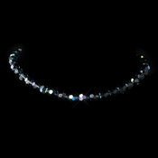 Navy AB Swarovski Crystal Bead Necklace 202