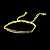 B 8819 Gold Yellow String Bracelet
