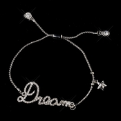 "Silver Clear Fashion Script ""Dream"" Bracelet 8825 **Discontinued**"
