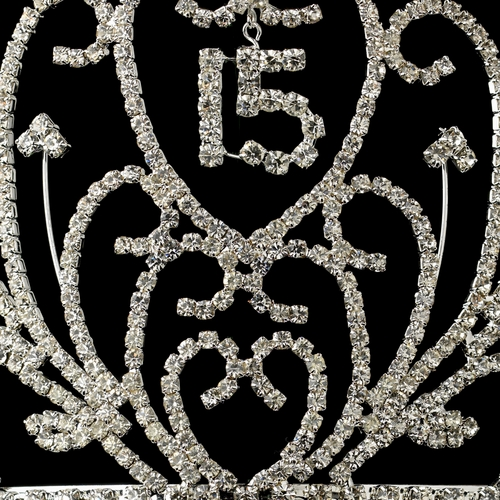 Magesty Rhinestone Quinceañera Sweet 15 Crown Headpiece 210***Discontinued***