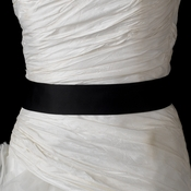 Black Bridal Plain Sash Belt 41