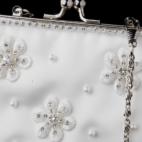 Ivory Pearl & Crystal Flower Bridal Purse 1970 **Discontinued**