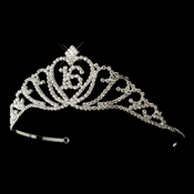Sparkling Majestic Sweet 16 RhinestoneTiara in Silver Clear 7032