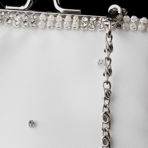 Ivory Pearl & Crystal Bridal Purse 1987
