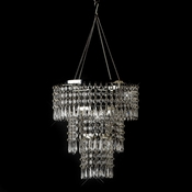 Clear acrylic beaded hanging Chandelier 15  (Table Top Center Piece Base Sold Separate)