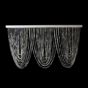 Iridescent Crystal Beaded Swag Curtain Swag 1  with Header Rods