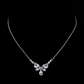 Butterfly Drop CZ Necklace N 9951