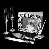 Black and White Complete Matching Reception Accessory Set