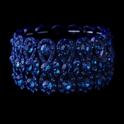Glitzy Blue Bowtie Stretch Bracelet w/ Blue Crystals 8699***Only 4 Left***