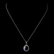 Royal Princess Kate Middleton Inspired Sapphire Pendant Necklace 8625