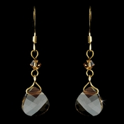 * Gold Light Brown Earrings 8269 *Only 3 Left*