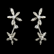 Unique Starfish Style Cubic Zirconia  Earrings E 5265 **Discontinued**