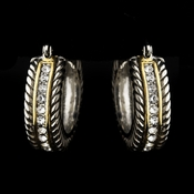 Silver Gold Clear Earrings 7952