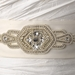 * Decadent Faux Pearl & Rhinestone Wedding Sash Bridal Belt (White or Ivory) 10