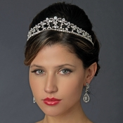 * Silver Clear CZ Crystal Bridal Tiara Headpiece 928 (Only 1 Piece in stock)