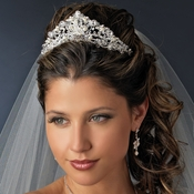 Swarovski and Freshwater Pearl Bridal Tiara HP 7825