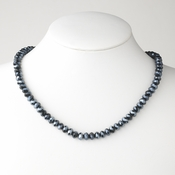 Navy Blue Necklace 7615