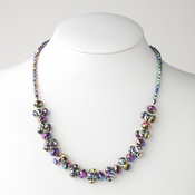 Multi Color Flower Necklace 7617
