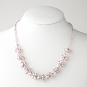 Pink Flower Necklace 7617