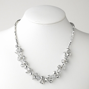 Silver Flower Necklace 7617