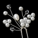 * White or Ivory Pearl & Crystal Flower Bridal Hair Pin 11
