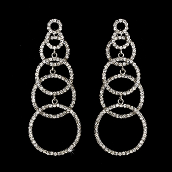 * Silver Clear Earring Set 1063