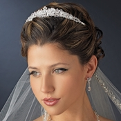 Silver Clear Swarovski Crystal & Rhinestone Bridal Tiara Headpiece 6564 **Discontinued**