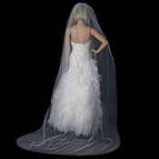 Bridal Wedding Single Layer Cathedral Cut Edge Length Veil VC 1C