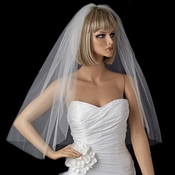 Bridal Wedding Single Layer Elbow Length Cut Edge Veil VSH C 1E *Shimmer Veiling* Cut Edge