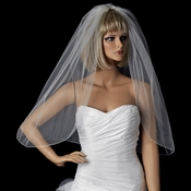Bridal Wedding Single Layer Pencil Edge Elbow Length Veil *Shimmer Veiling* VSH P 1E