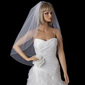 Bridal Wedding Double Layer Fingertip Length Veil 1546 F