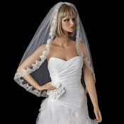 Bridal Wedding Single Layer Fingertip Length Veil 990 1F