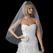 Bridal Wedding Single Layer Cut Edge Fingertip Length Veil VSH C 1F