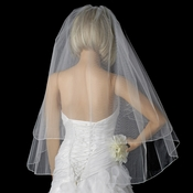 Bridal Wedding Double Layer Pencil Edge  Fingertip Length VSH P F