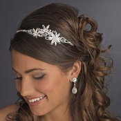 * Triple Flower Accented Crystal Headband 910**Irregular***