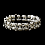 Silver White Bracelet 80629***Discontinued***