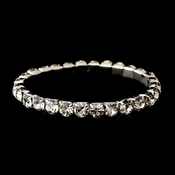 Silver Clear Stretch Bracelet 7621
