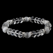 * Stretch Bracelet 8333 Clear White