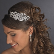 Antique Silver Side Accented Headpiece HP 397