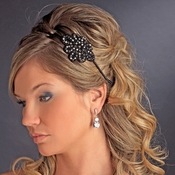 Black Rhodium Headband Headpiece 4024