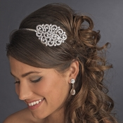 Silver Clear Headpiece 6548