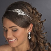 * Silver Clear Headpiece 6727 ***2 Left***