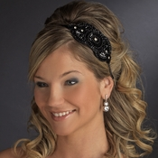 * Black Wedding Headband 4020***Discontinued***