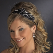Silver Black Headpiece 8455