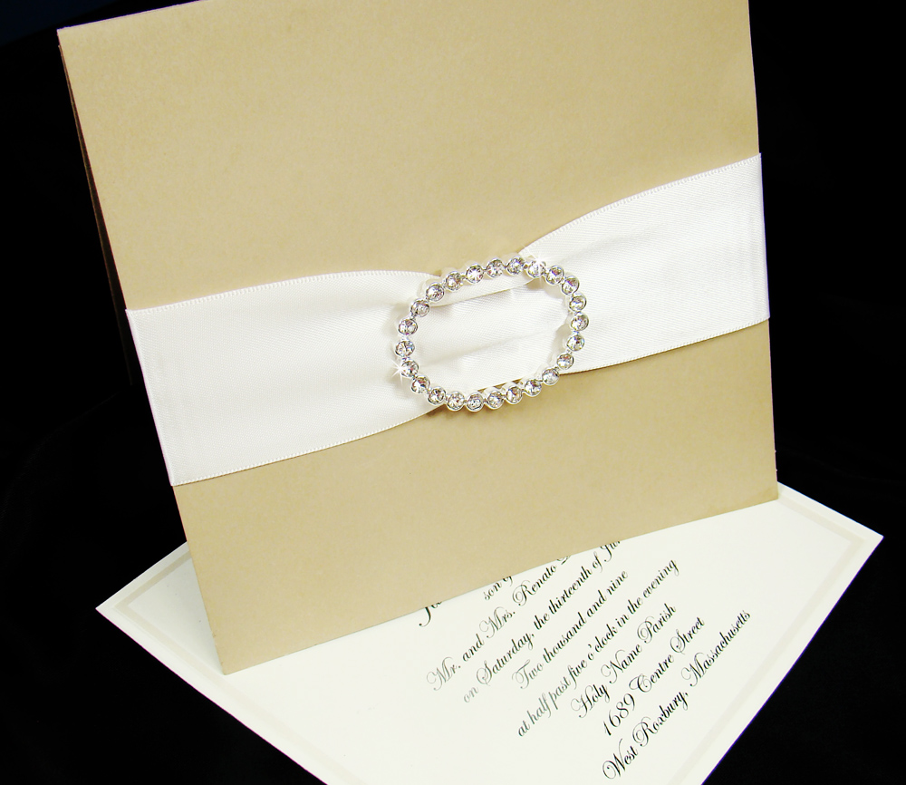 Swarovski Crystal Embellishments Wedding Invitations | Wedding
