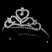 Silver Heart Child'sTiara HPC 7005