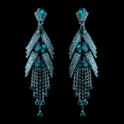 Silver Teal Blue Earring Set 1059