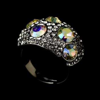 Glamorous Clear & AB Crystal Ring 166