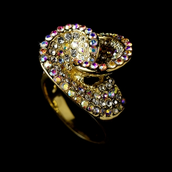 Fabulous Gold with AB & Clear Crystal Ring 161 ** Discontinued **